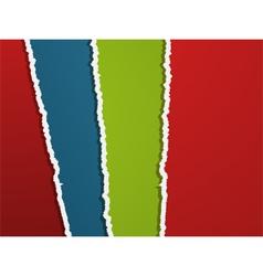 Torn coloured paper landscape vector