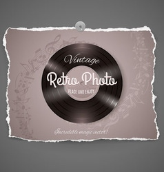 Vintage vinyl music ilustration vector