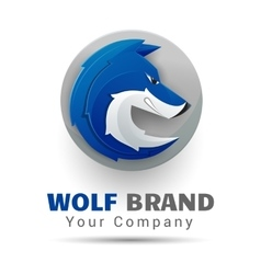 wolf bolt Color Logo Creative colorful abstract vector image vector image