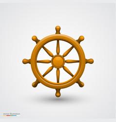 Wooden ship wheel vector