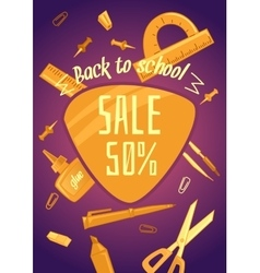 Big sale of stationery for school office and vector
