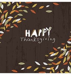 Happy thanksgiving logotype leaf cut letters for vector