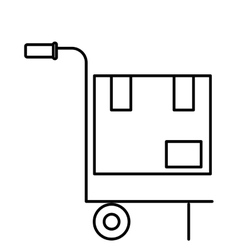 Isolated delivery package over cart design vector