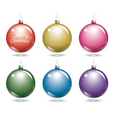 Christmas balls set of isolated multicolor ball vector