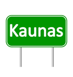 Kaunas road sign vector