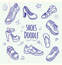 boots sketchy doodle collection vector image