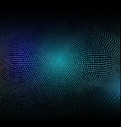 Abstract background with glowing dots vector