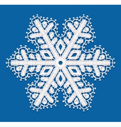 Lacy snowflake vector image