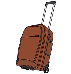 Baggage on wheels vector