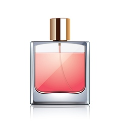 Perfume bottle isolated vector