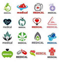 Biggest collection of logos medical vector