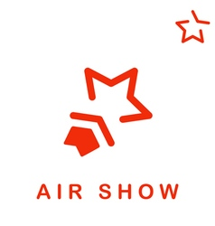 Star shape logo air show vector