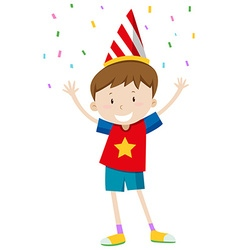 Little boy with party hat vector