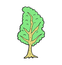 Comic cartoon tree vector