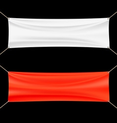 Red and white banner vector