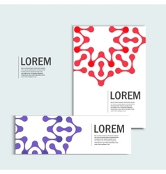 Brochures with abstract figures design vector