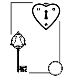 keyhole and old key vector image