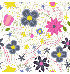 abstract flower colorful on white vector image vector image