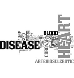 Arteriosclerotic heart disease text word cloud vector