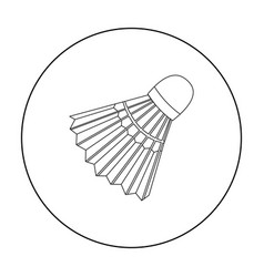 Badminton icon outline single sport icon from the vector