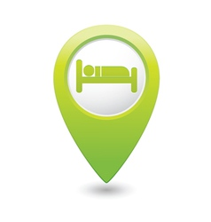 Bed2 green map pointer vector