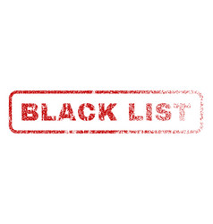 Black list rubber stamp vector