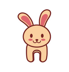 Cartoon rabbit animal image vector