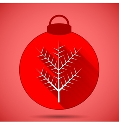 Christmas icon with the branch on a pink vector