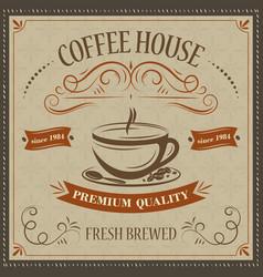 Coffee house retro background premium quality vector