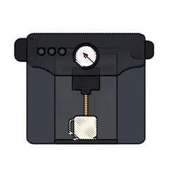 Color blurred stripe of coffee espresso machine vector