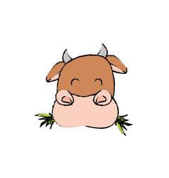cow farm animal vector image