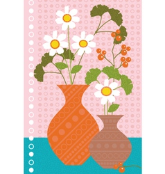 daisies and berries vector image