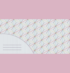 decorative sashiko frame with copy space for text vector image