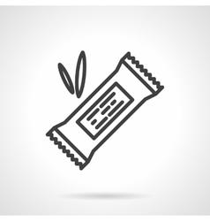 Energy bar black line design icon vector