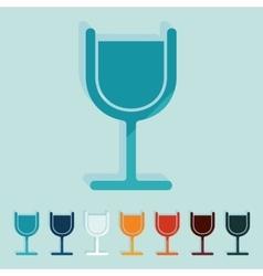 Flat design cocktail vector image