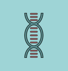 Flat icon design collection human dna vector