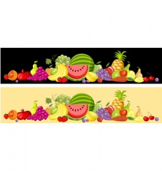 fruit card set vector image
