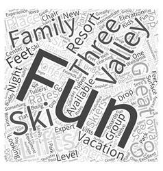 Fun valley ski vacations word cloud concept vector