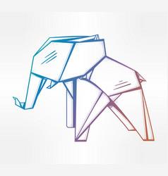 geometric pattern origami elephant vector image