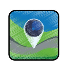 gps map pointer vector image vector image