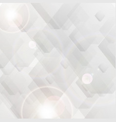 Grey tech polygon abstract background vector