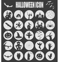 Halloween icon set Holiday design vector image vector image