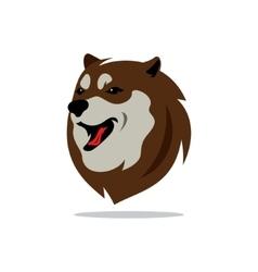 Husky dog cartoon vector