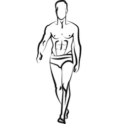 male model vector image