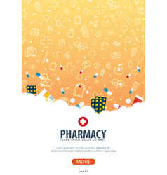 Pharmacy medical poster health care vector