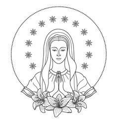 praying virgin mary vector image vector image