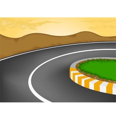 Sharp curve vector image vector image