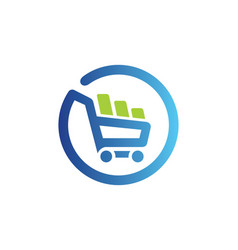 Shopping cart basket buy online logo vector