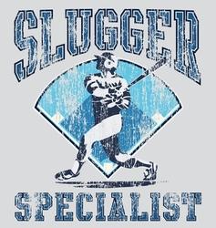 Slugger batter vector