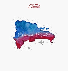 Travel around the world dominican republic vector